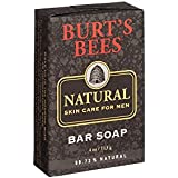 Burt's Bees Natural Skin Care for Men Bar Soap, 4 Ounces, (Pack of 3)