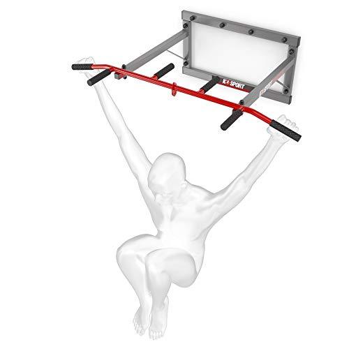K-Sport: Pull-up bar voor wandmontage I Krachtstation met pull-up bar & 3 verschillende handgrepen I Pull-up toren voor…