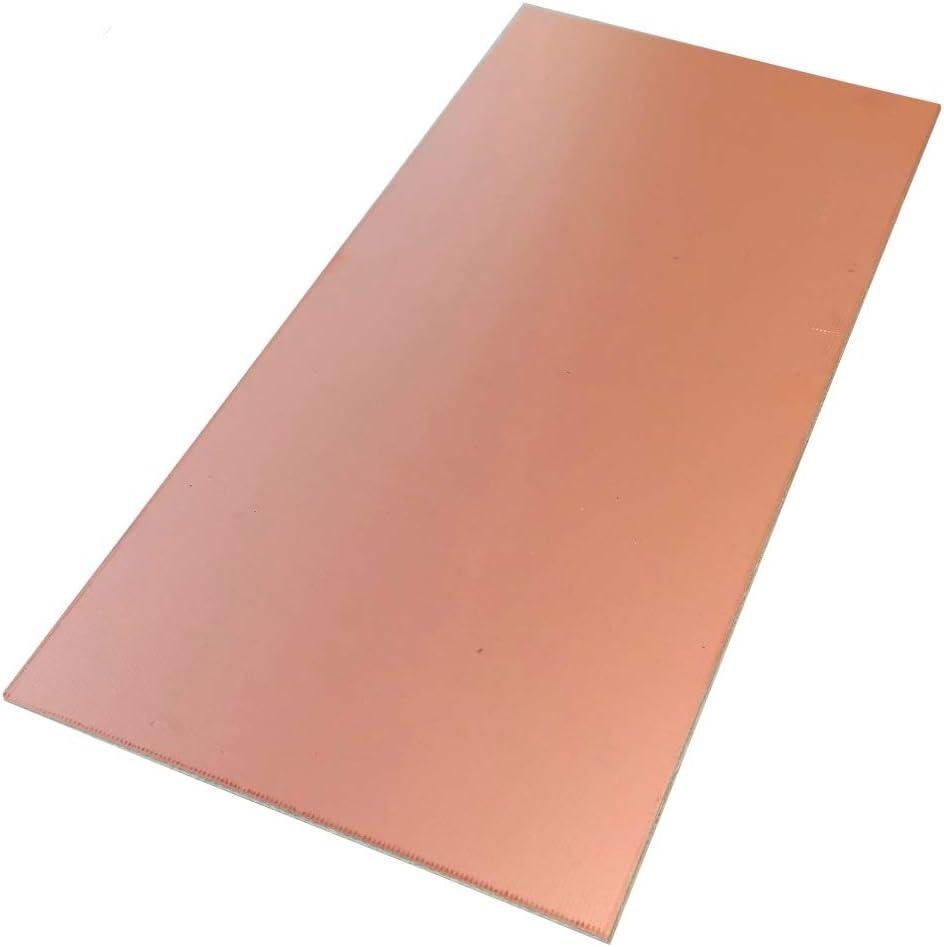 Aerzetix 10 plaques planches feuilles en cuivre pour circuit imprim/é 100//75//1.5mm FR4 r/ésine epoxy fibre de verre C19016
