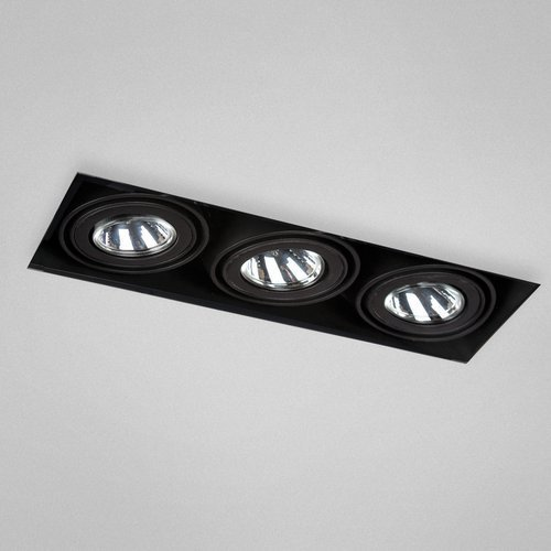 Eurofase TE213TR 3-Light MR16 Trimless Recessed Mutiple with 0084B3 Transformer, Black by Eurofase