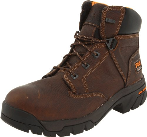 (Timberland PRO Men's Helix 6-Inch Non-WP Steel Toe Work Boot,Brown,13 W US)