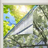 solardiamond Window Film Privacy Mirror One Way Heat Control Sun Blocking Insulation Film UV Protection Decorative Residential Window Tint Roll for Home Office & Car | 15% Reflective Silver 60inX6ft