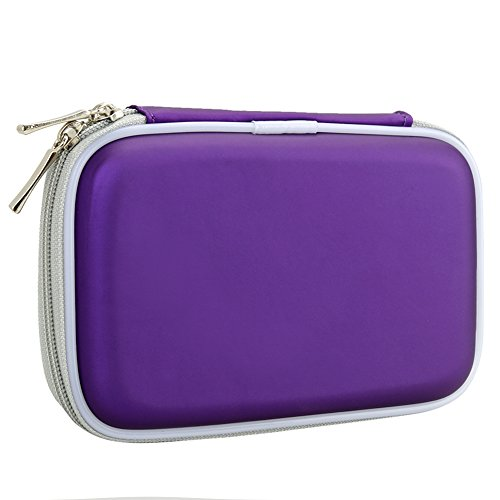 BIRUGEAR Portable Hard Shell Hard Drive / GPS EVA Carrying Case - Purple