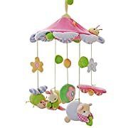 SHILOH Baby Newborn Crib Mobile Plush Canopy Toys(without musical box or arm) (Pink Butterfly)