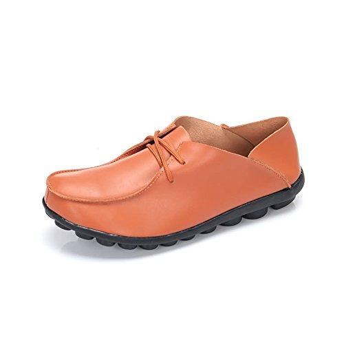 Cuir Lace Chaussures Homme Plats à Hommes pour Légères Souple Up d'été Talons 2018 Mocassins en Jaune Chaussures synthétique Occasionnels Super RpqOpw