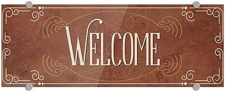 8x3 CGSignLab Welcome Victorian Card Premium Brushed Aluminum Sign