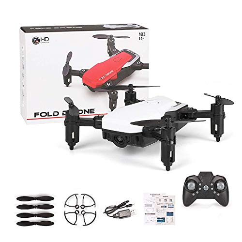 Kofun Drone, Mini LF606 Foldable WiFi FPV 2.4GHz 6-Axis RC Quadcopter Drone Helicopter Toy Ideal Christmas Birthday Aircraft Gift for Kids White