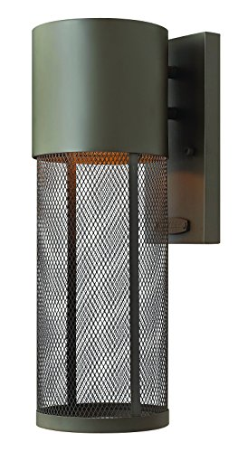 Hinkley 2300KZ-LED Transitional One Light Wall Mount from Aria collection in Bronze/Darkfinish,