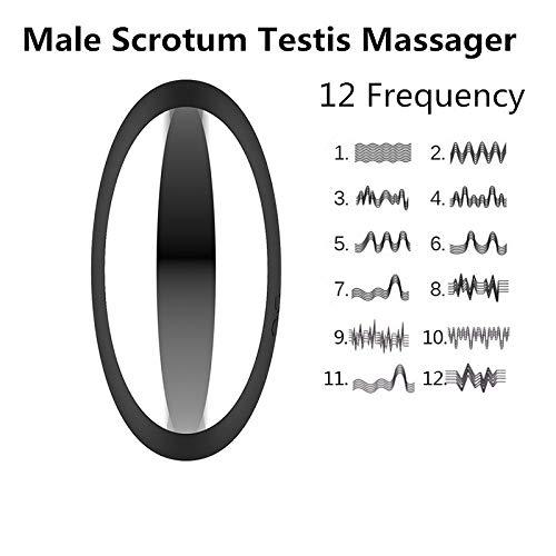 Vibradores Testículos, Vibrador Bola Vibrante Escroto Masaje Para Retardo Hombre Masturbador Huevo 12 Modos Retardo Para Eyaculación Sexo Juguetes,azul e6b67a