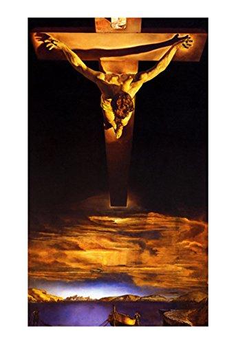 amazon com christ st john of the cross poster by salvador dali