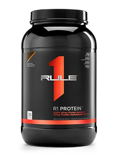 R1 Protein Whey Isolate/Hydrolysate, Rule 1 Proteins (38 Servings, Chocolate Peanut Butter) For Sale