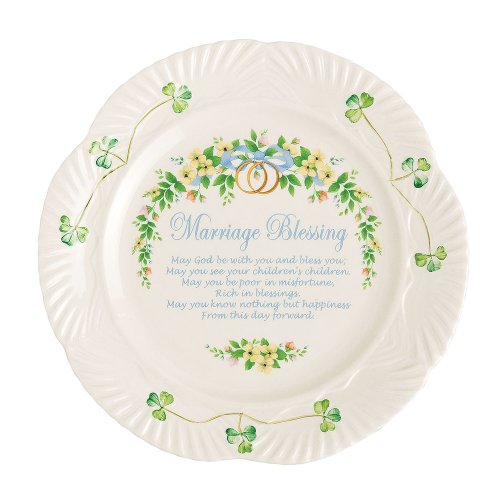 Belleek Marriage Blessing Plate, 9