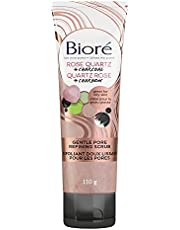 Bioré Rose Quartz + Charcoal Gentle Pore Refining Scrub, Exfoliating Wash for the Face (110 g)