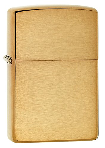 Zippo Armor Brushed Brass Pocket Lighter