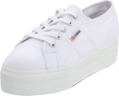 Superga Women's 2790 Platform Sneaker,White,37 EU/ 6.5 US