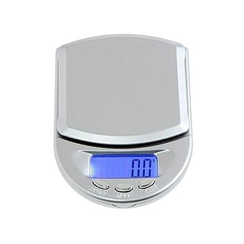 ZHANGYUGE Báscula de Cocina de Bolsillo Mini Gramos Oro Joyería Peso de balanza Digital de Alta precisión Balanca Escalas Escalas de joyería,100G-0.01G: ...