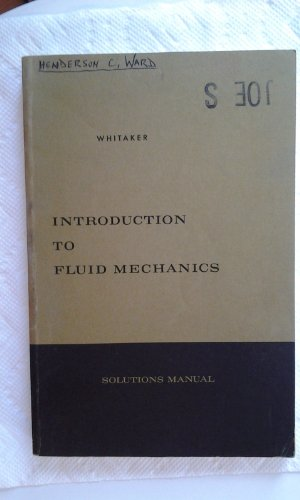 Solutions Manual Introduction to Fluid Mechanics