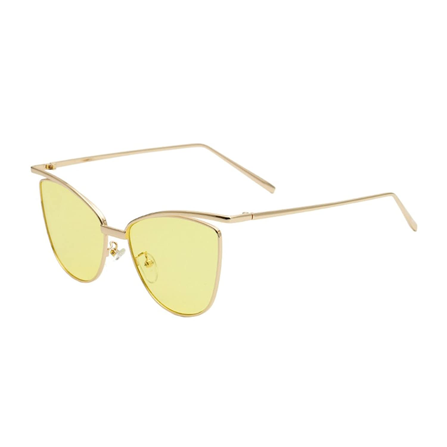 Coolsunny Womens Color Mirror mirrored Lens Oversize Cat Eye Sunglasses MC2262