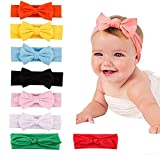 8Pack - Diadema para Bebé Niñas - Lazo para Cabeza de Recién Nacidas - 8PACK de 8 Piezas - Diversos Colores (8)