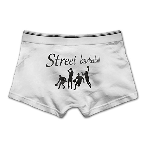 Unhuangs Street Basketball Men's Low Waists and High Waists, Shorts, Tights, and Short Fiber Underwear XXL White
