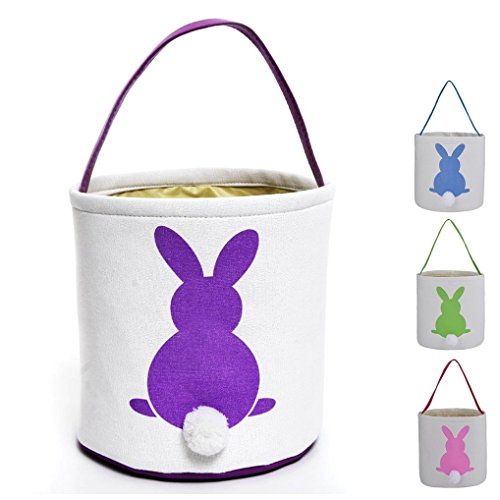 (Easter Egg Hunt Basket Bag, Rabbit Tote Handbag Eggs Candy Gifts Container Bunny Bag for)