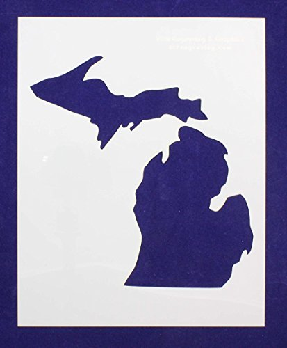 State of Michigan 8x10 Stencil 14 Mil Mylar - Painting /Crafts/ - Michigan Mile 14