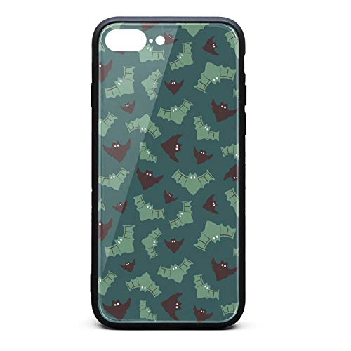Srel rtrterwe Phone case for iphone7 Plus/iphone8 Plus Green Camouflage Batman Halloween Bumper Matte TPU Protective Back Mobile Cover Cell Phone Holder -