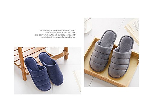 Cotton Cozy Red Winter Casual House Fansela Slippers Unisex Anti Warm slip amp; TM Violet Comfortable ZAq4v