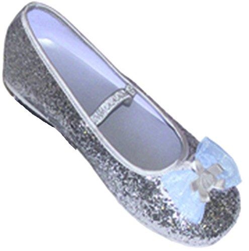 Travis - Chaussures Fille - Ballerines Pailletées. Taille 29 / 30. Couleur Argentée.