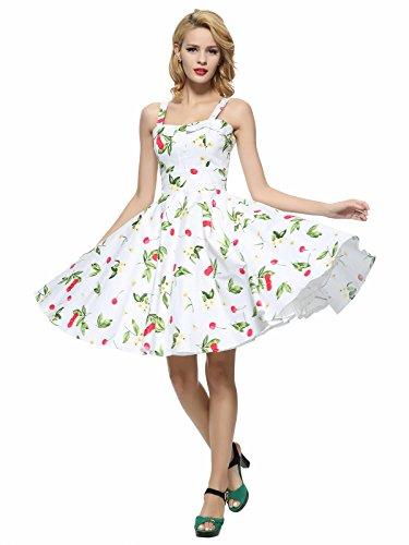 Maggie Tang–Vestido para mujer White cherry