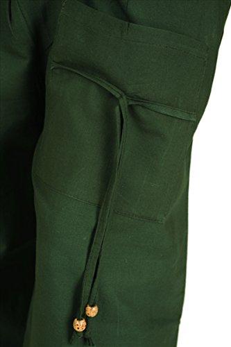 SNS Pure algodón harén pantalones Yoga de la India pijama con bolsillos Green 3