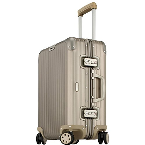 "Price comparison product image Rimowa Topas Titanium IATA Luggage 22"" inch Cabin Multiwheel 45.0 L Light Bronze"
