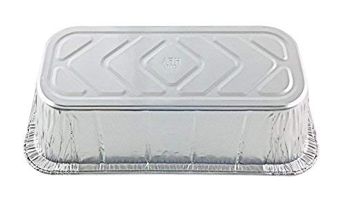 Handi-Foil of America Hfa 1/3 Third-Size Deep Aluminum Foil Steam / 5 lb Loaf Pan w/Foil Lids (Pack of 50 Sets) by Handi-Foil (Image #5)