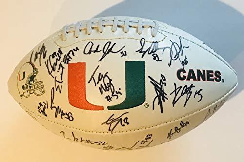 Miami Hurricanes team signed football devin hester greg olsen 2004 peach  bowl champs 923e13741