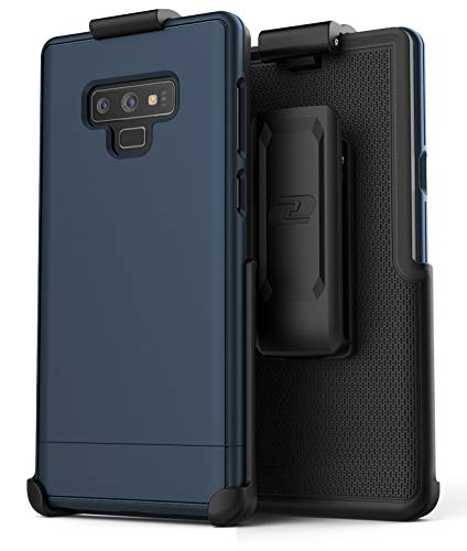 Encased Slimshield Belt Case for Samsung Galaxy Note 9 (2018) Ultra Slim Protective Hard Cover w/Holster Clip (Navy ()