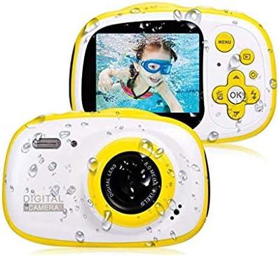 キッズカメラ、子供SDカード/ MP3 / MP4 /ゲーム機能のための子供のためのIP68防水カメラ、HD 1080P水中カメラ、ガールズボーイズギフト用バッグやストラップデジタルカメラ