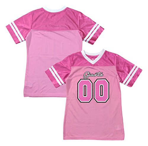 Outerstuff New York Giants Logo  00 Pink Dazzle Girls Youth Jersey (Medium  7  f84783796