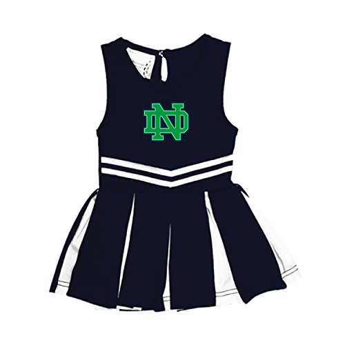 Baby Infant Cheerleader Dress (Notre Dame Fighting Irish NCAA Newborn Infant Baby Cheerleader Bodysuit Dress (6 Months))