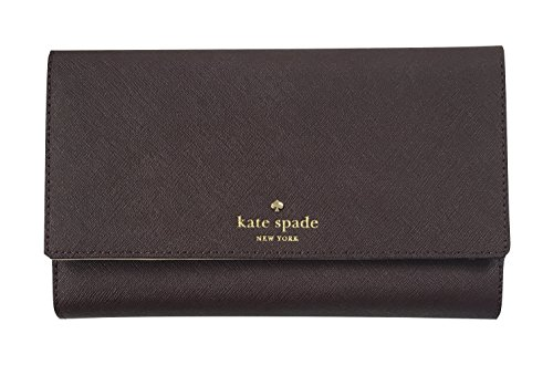 Kate Spade New York Mikas Pond Phoenix Trifold Leather Wallet (Mahogany) by Kate Spade New York