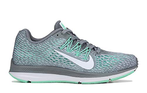 Nike Women's Air Zoom Winflo 5 Running Shoe (8 Wide, Grey/White-Wolf Grey-Pure Platinum)