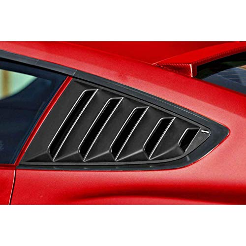 - Tutor Auto  Quarter Side Window Louvers Visor Cover Sun Rain Shade Vent GT 5 Vents Window Scoop Louver for 2015 2016 2017 2018 Ford Mustang Rear Window Louvers