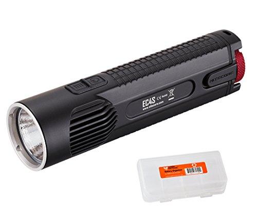 NiteCore EC4S 2150 Lumens XHP50 Flashlight with LumenTac Battery Organizer