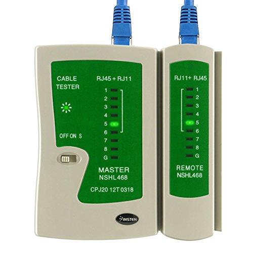 Insten Network Cable Tester for RJ45 RJ11 RJ12 UTP LAN Cable Cord Phone Telephone Line Test Tool