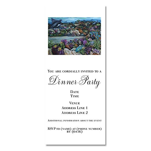 CafePress - Stingray And Parrotfish - Invitations Matte