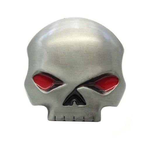 Punk Red Eyes Human Skull Skeleton Punisher Belt Buckle Mens Cool Cowboy - Buckle Biker Skull Belt