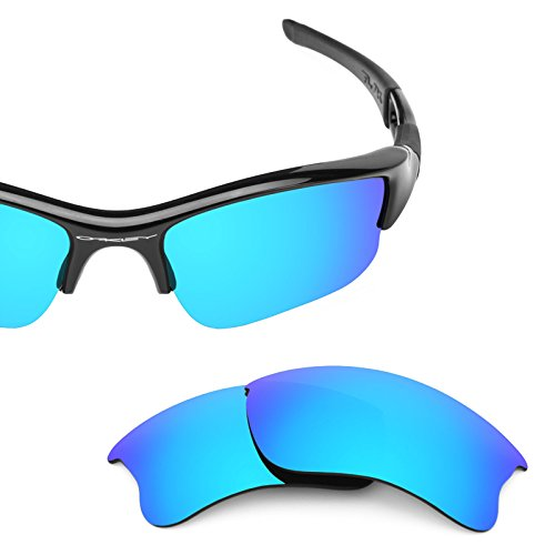 Revant Polarized Replacement Lenses for Oakley Flak Jacket XLJ Ice Blue MirrorShield by Revant