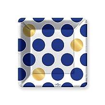 Kenzie-Navy Dessert Paper Plates