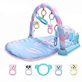 RXIN Baby Activity Play Mat Baby Gym Educational Fitness Frame Multi-Bracket Baby Toys Music Piano Game Crawl Mats Rug