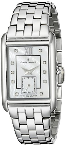 Claude Bernard Women's 23097 3M NAPN Ladies Fashion Analog Display Swiss Quartz Silver Watch