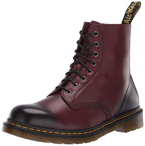 (Dr. Martens Men's Pascal Antique Temperley Combat Boot, Cherry Red Virginia Leather, 13 UK/14 M US)
